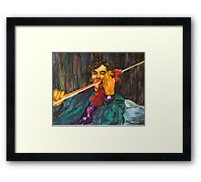 Sherlock and the Violin Framed Print