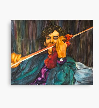 Sherlock and the Violin Canvas Print