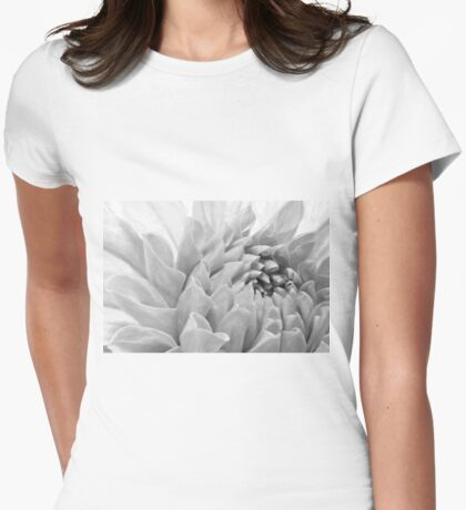 Dahlia Petals - Digital Pastel Art Work  Womens Fitted T-Shirt