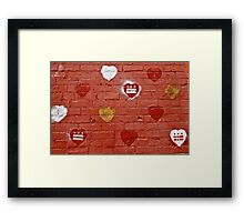 DC LOVE Framed Print