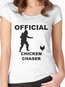 Chicken Chasher Women's Fitted Scoop T-Shirt