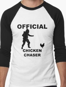 Chicken Chasher Men's Baseball ¾ T-Shirt