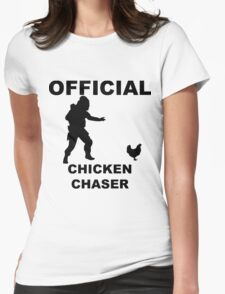 Chicken Chasher Womens Fitted T-Shirt