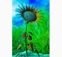 Metal Sunflower Art Sculpture  Unisex T-Shirt