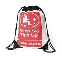 Ski Tips Up! It's time to ski! Cranmore!   Drawstring Bag