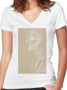 The Consulting Detective  Women's Fitted V-Neck T-Shirt