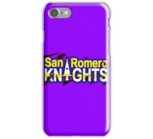 Bloody San Romero Knights With Purple Outline iPhone Case/Skin