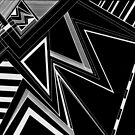 Black And White Triangles  by bekkalily
