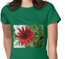 Scarlet Daisy and Buds Womens Fitted T-Shirt