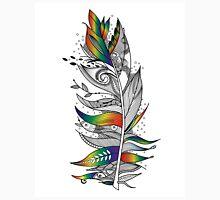 Rainbow Feather Mens V-Neck T-Shirt