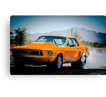 Orange Ford Mustang Canvas Print