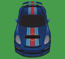 porsche cayman gt4 martini blue One Piece - Short Sleeve