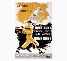 Vintage World War II Don't Bunt Baseball Unisex T-Shirt