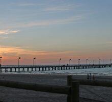Sunset over Frankston Pier Sticker