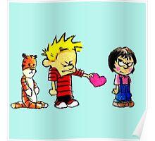 Calvin Hobbes Love Poster