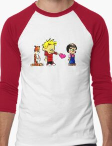 Calvin Hobbes Love Men's Baseball ¾ T-Shirt