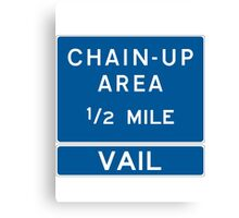 Chain Up! - Vail Canvas Print