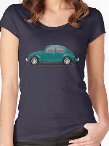 1967 Volkswagen Beetle Sedan - Java Green Women's Fitted Scoop T-Shirt