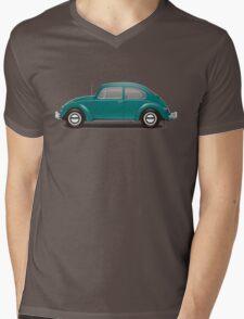 1967 Volkswagen Beetle Sedan - Java Green Mens V-Neck T-Shirt