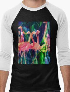 Flamingo Dance Men's Baseball ¾ T-Shirt