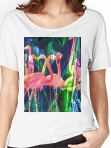 Flamingo Dance Women's Relaxed Fit T-Shirt