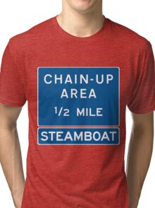 Chain Up! - Steamboat Tri-blend T-Shirt