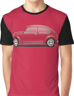 1968 Volkswagen Beetle Sedan - Royal Red Graphic T-Shirt
