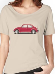 1968 Volkswagen Beetle Sedan - Royal Red Women's Relaxed Fit T-Shirt