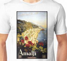 Vintage Amalfi Coast Italia Travel Unisex T-Shirt