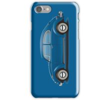 1968 Volkswagen Beetle Sedan - VW Blue iPhone Case/Skin
