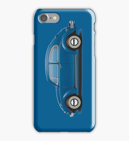 1968 Volkswagen Beetle Sedan - VW Blue iPhone Case/Skin