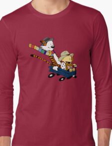 Calvin Hobbes Doctor Who Long Sleeve T-Shirt