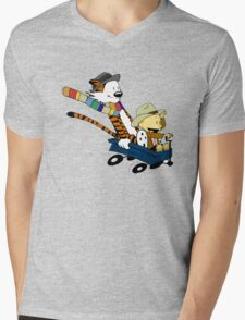 Calvin Hobbes Doctor Who Mens V-Neck T-Shirt