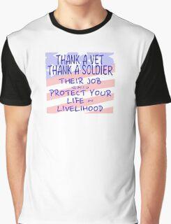 THANK A VET THANK A SOLDIER Graphic T-Shirt