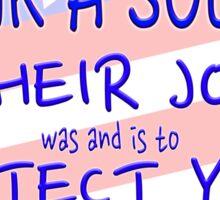 THANK A VET THANK A SOLDIER Sticker