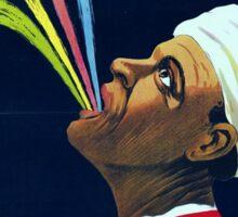 Vintage Vaudeville Aly, the Mysterious Egyptian Sticker