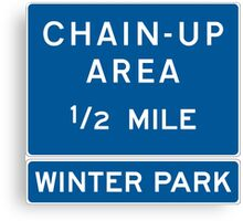 Chain Up! - Winter Park/Mary Jane! Canvas Print