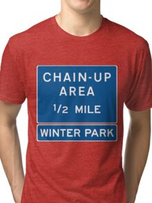 Chain Up! - Winter Park/Mary Jane! Tri-blend T-Shirt