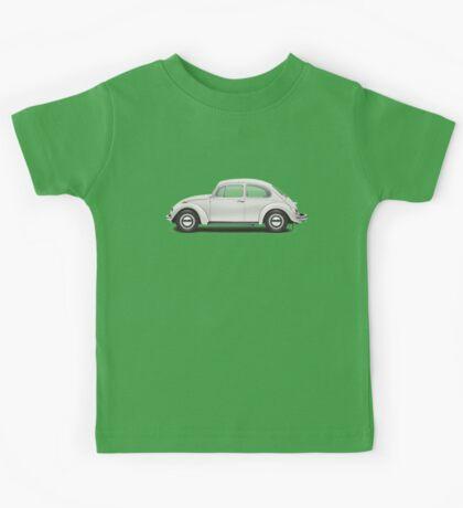 1969 Volkswagen Beetle Sedan - Toga White Kids Tee