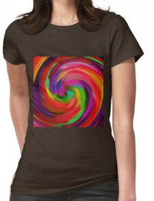 Abstract Art Womens Fitted T-Shirt