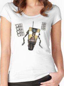 Borderlands Claptrap, wub, wub, wub! ;) Women's Fitted Scoop T-Shirt