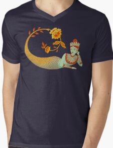 Flower Devi Green Goddess Mens V-Neck T-Shirt