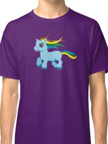blue rainbow pony Classic T-Shirt