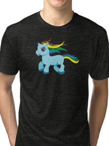 blue rainbow pony Tri-blend T-Shirt