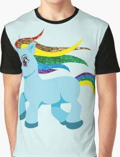 blue rainbow pony Graphic T-Shirt