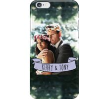 Kerry & Tony - Flower Crown iPhone Case/Skin