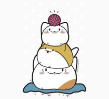 Kawaii Cat Aiko With Yarn Ball & Friends Kids Tee