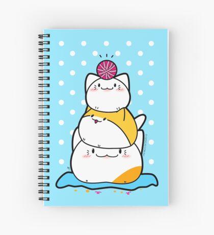 Kawaii Cat Aiko With Yarn Ball & Friends Spiral Notebook