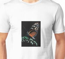 Butterfly on Green Leaf Unisex T-Shirt