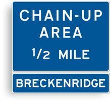 Chain Up! - Breckenridge Canvas Print